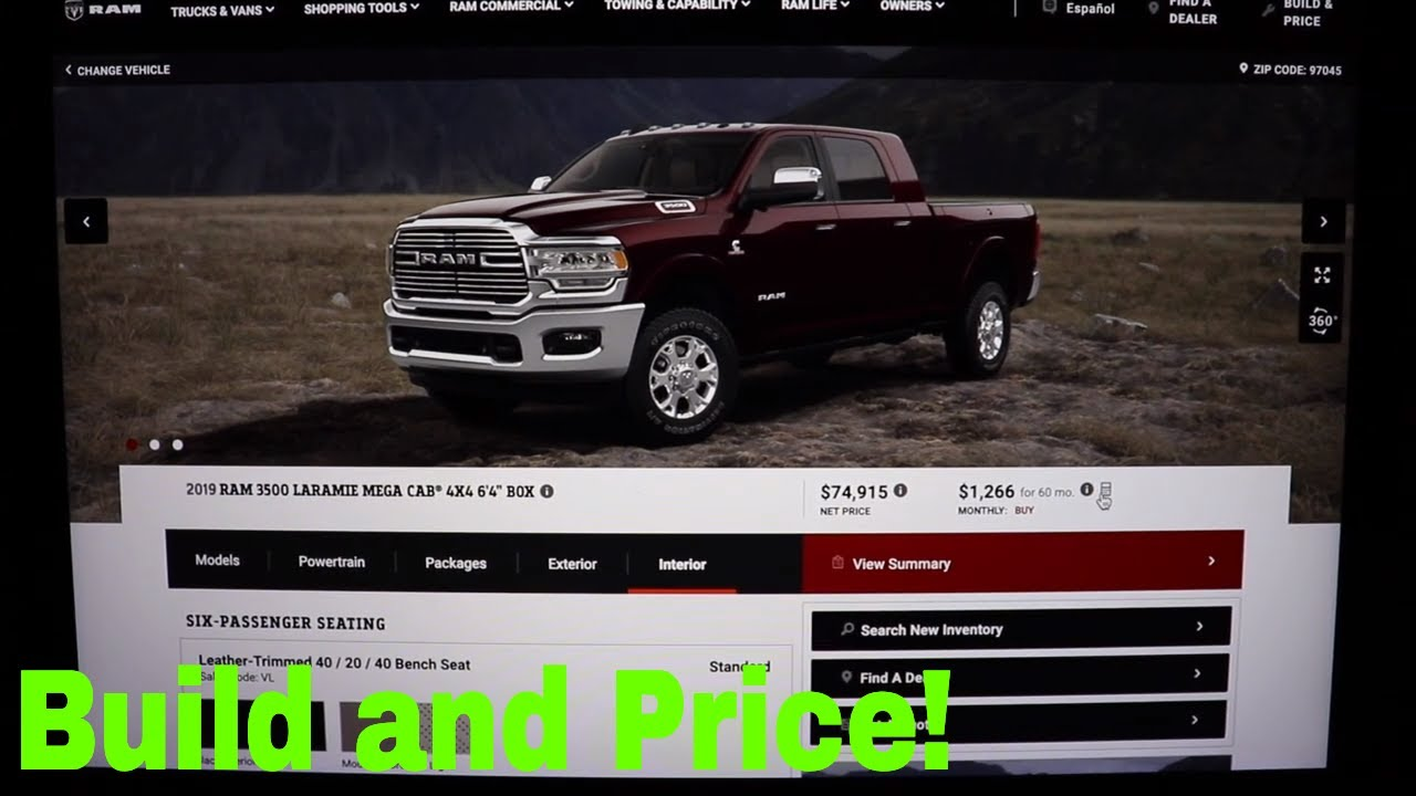 Ram Build And Price >> 2019 Ram 3500 Build And Price Feature Youtube