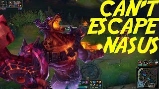 Funny And Tryhard Moments ! You Can't Escape The Nasus -League Of Legends