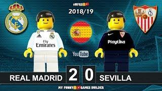 Real Madrid vs Sevilla 2-0 • LaLiga 2019 (19/01/2019) All Goals Highlights Lego Football La Liga