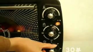 동영상 위즈웰 전기오븐 CKF 6D 군고구마 굽기