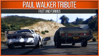 One of GTA Wise Guy's most viewed videos: GTA 5 Fast and Furious Paul Walker Tribute