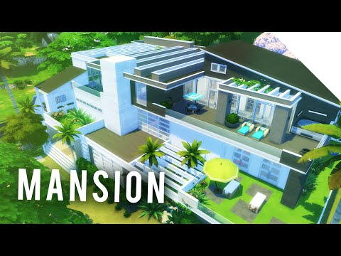 The Sims 4 Speedbuild — MEGA MODERN MANSION! 01