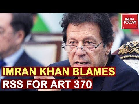 Pak PM Imran Khan Claims RSS Directed Modi Govt On Kashmir Move