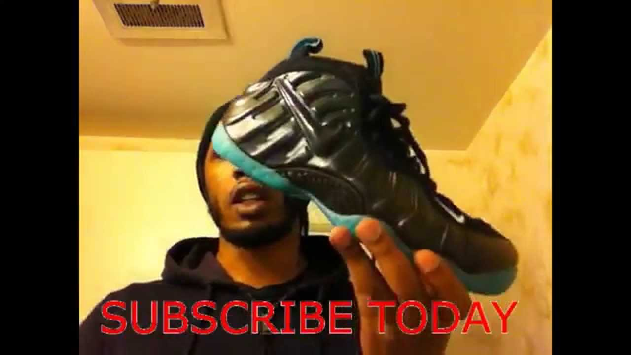 5cafe95a8e1 Nike Air Foamposite Pro (Drk Obsidian-Aqua) Review - YouTube