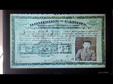 CHINNESS HEAD TAX=Grandpa BUDDY SR.(Bok)YUEN  clips CBC and BCTV 1995