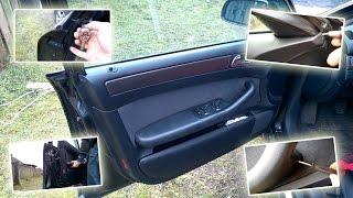 Как снять обшивку двери Ауди А6 С5 / How to remove door trim Audi