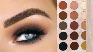 Dark Matte Smokey Eyeshadow Tutorial | Dominique Cosmetics Transition Palette