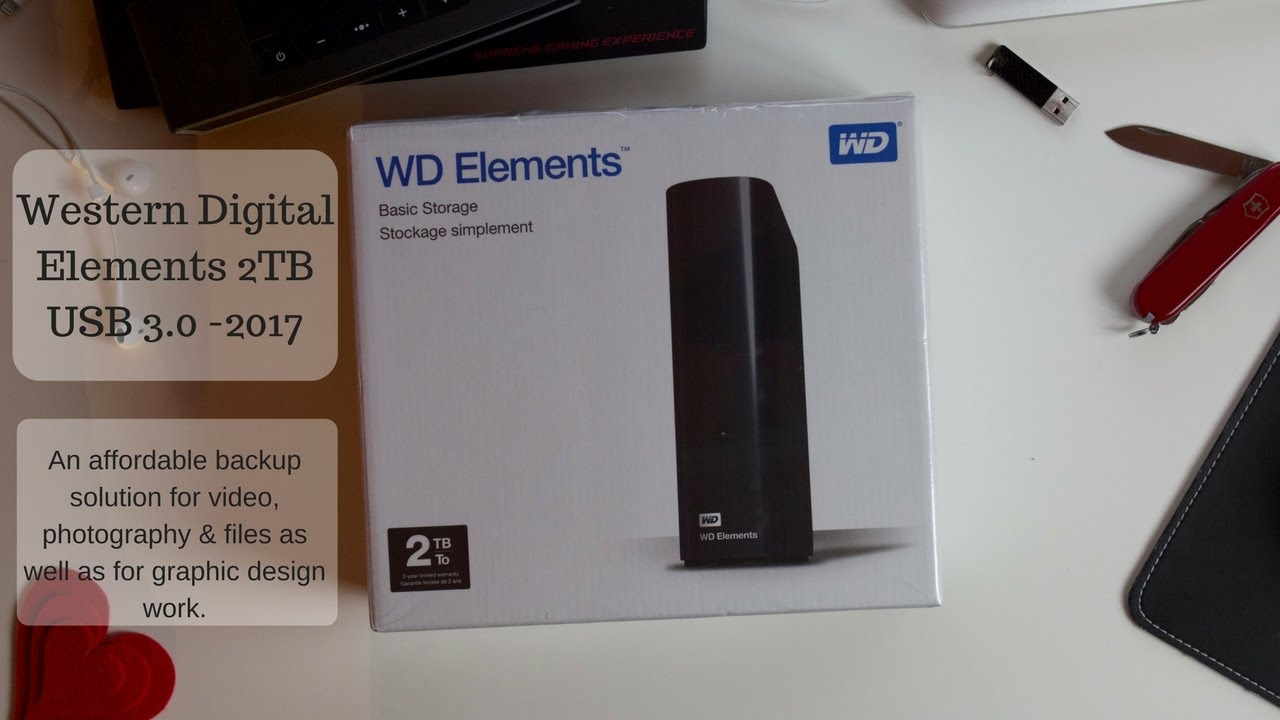 Western Digital Elements Desktop Hard Drive 2017