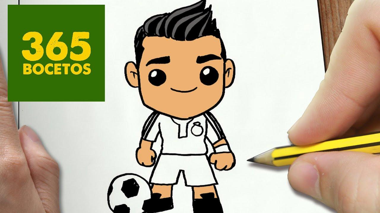 Como Dibujar Cristiano Ronaldo Kawaii Paso A Paso Dibujos Kawaii