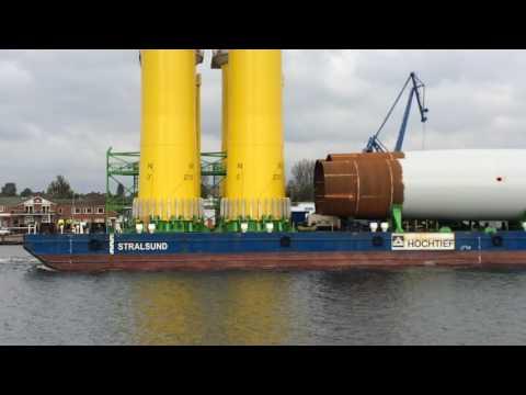 Transport Offshore Windkraftanlage Nordostsee Kanal Rendsburg