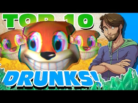 Top 10 DRUNKS in Video Games! - SpaceHamster