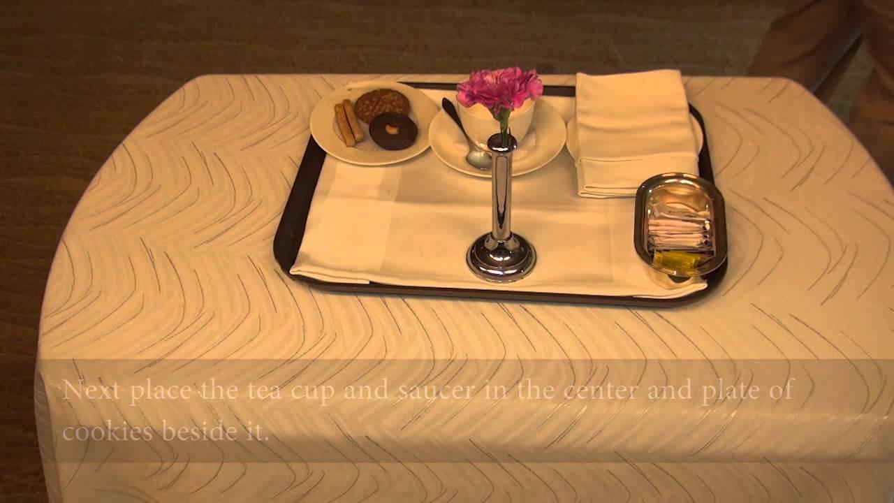 Tea Coffee Tray Setup