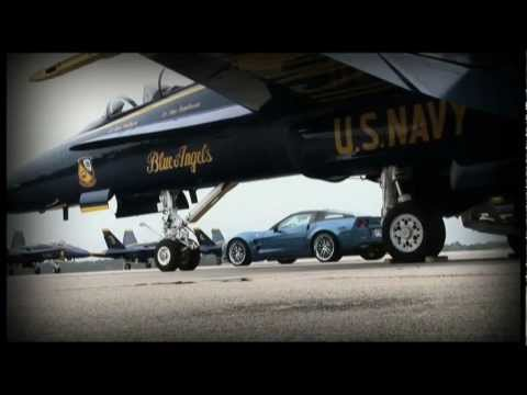 Blue Angel F/A 18 vs Blue Devil ZR1 Corvette in Mile Race