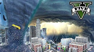 PREPARING FOR HURRICANE!!! END OF LOS SANTOS GTA V MOD GAMEPLAY