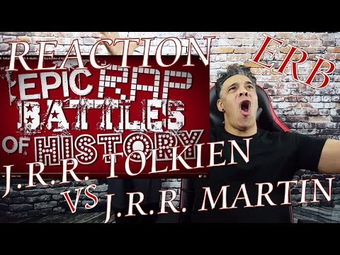J. R. R. Tolkien vs George R. R. Martin. Epic Rap Battles of History REACTION!!!