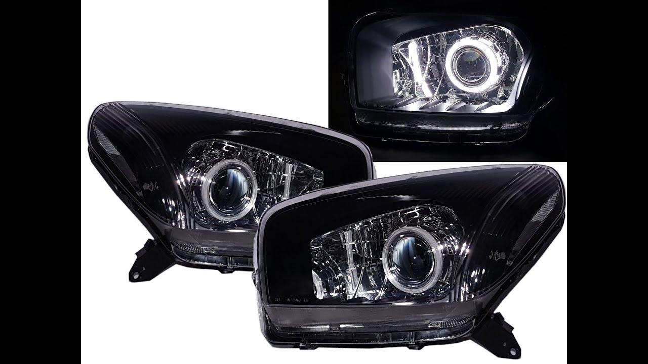 Crazythe Rav4 Xa20 2001 2003 Pre Facelift 5d Ccfl Projector Headlight Black For Toyota