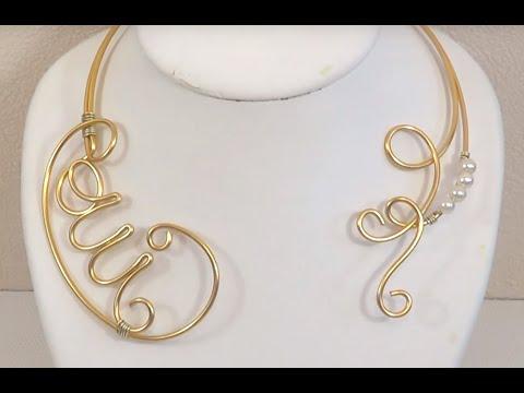 Bien connu ▻ [ TUTO ] Création Collier de mariage en fil aluminium et perles  TR41