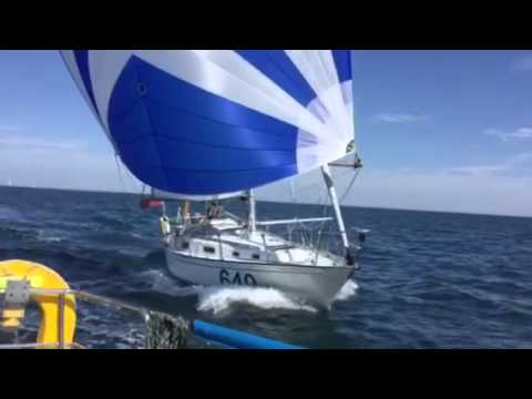 Concerto Contessa 32 spinnaker reaching off Guernsey