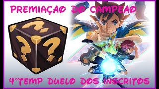 VLOG PREMIAÇÃO DO CAMPEAO DA 4° TEMP DUELO DOS INSCRITOS + AVISO IMPORTANTE!