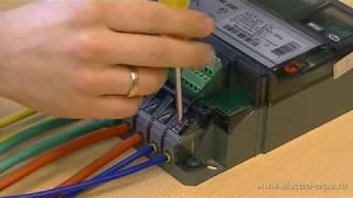 видео Установка и снятие 3-х фазных электросчетчиков непосредственного включения