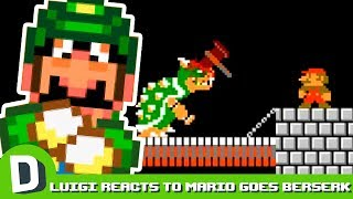 Luigi Reacts to Mario Goes Berserk