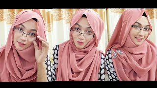 3 Easy Hijab Styles with Glasses with Covering Chest | Pari ZaaD