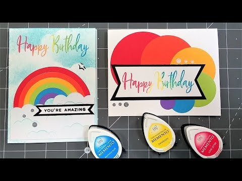 Make Rainbow with Regular Circle Dies/cutters-No Waste Cards!