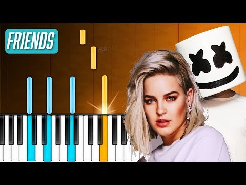 """Marshmello& Anne-Marie - """"Friends"""" Piano Tutorial - Chords - How To Play - Cover"""