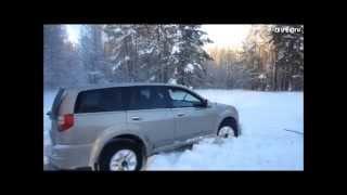 Внедорожник УАЗ & Land Rover & Isuzu Axiom на бездорожье
