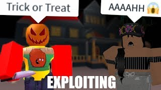 Trick or Treat Knife Trolling - Roblox Halloween