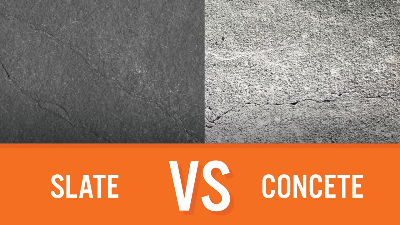 Slate vs Concrete | Countertop Comparison