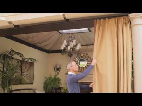 How to Hang Curtains Outdoors | eHow