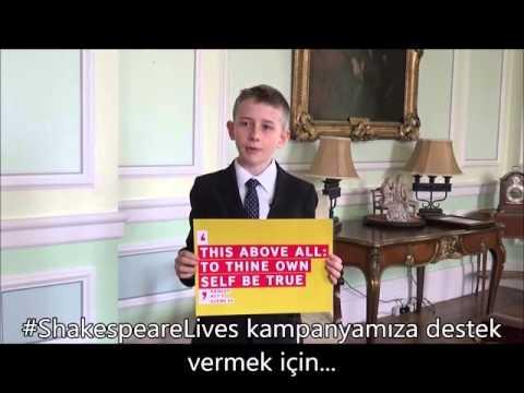 British Embassy School Ankara öğrencileri #ShakespeareLives kampanyasına destek veriyor 1/6