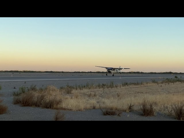 Wheel landing - Cessna 180