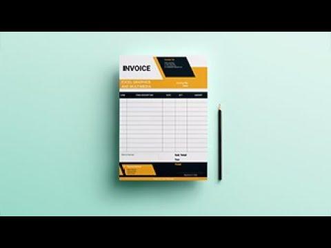 Professional Invoice Design In Coreldraw Tutorial Youtube