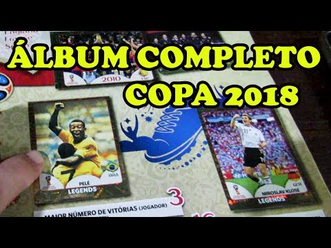 Álbum completo da copa 2018 -  300 reais em figurinhas - Copa do mundo 2018