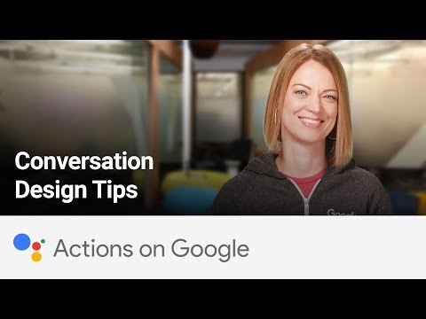 Actions on Google: Conversation Design Tips