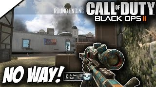 NO WAY HE HIT THAT! (BO2 SnD Trickshotting!)
