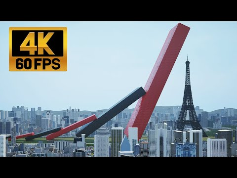 Download [4k60fps] 에펠탑 보다 큰 도미노 Domino bigger than the Eiffel Tower