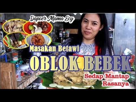 Stayhome Sambil Belajar Resep Oblok Bebek Masakan Khas Betawi Sedap Mantap Pedas Dapoer Mama Ecy Youtube