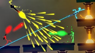 NEW Crazy and EXTREME Weapons!  Epic Stick Fight Battle (Stick Fight the Game Multiplayer