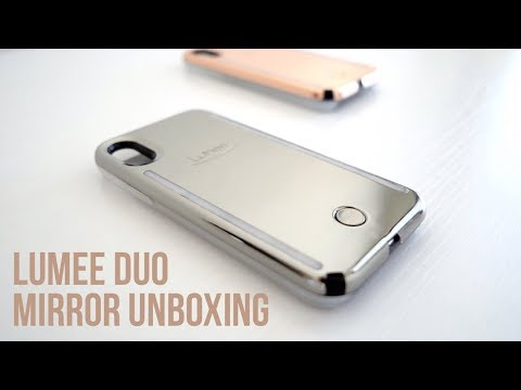 LUMEE DUO MIRROR FOR IPHONE X UNBOXING