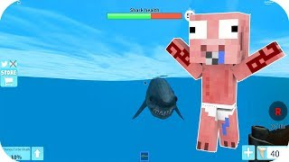 BABY EACH IS ATTACKED BY A SHARK - ROBLOX EACH SHARK BITE HAMMERHEAD