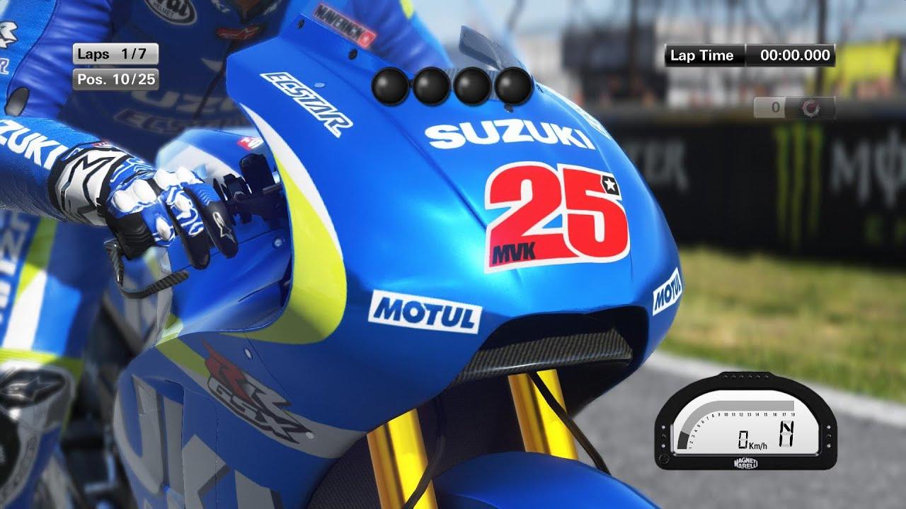 MotoGP 15 - Maverick Vinales - Le Mans Race (Gameplay) - YouTube