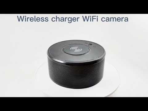 IP027 Demo Video-Wi-Fi Covert Camera Wireless Charger Bluetooth Speaker-Aishine Security