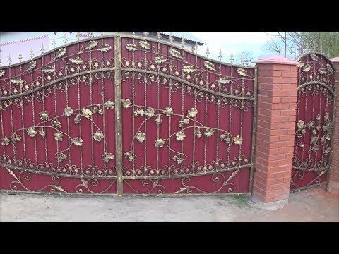Ворота с элементами ковки своими руками чертежи фото и видео