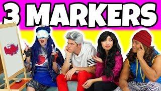 Video 3 MARKER CHALLENGE (Descendants Evie vs Carlos vs Jay vs Lonnie Dress Up Characters) download MP3, 3GP, MP4, WEBM, AVI, FLV September 2018