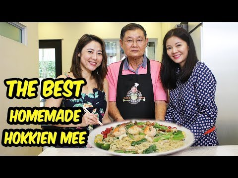 Papa Chong Cooks 庄爸爸庄大厨 Ep 5 | Hokkien Mee with Freshly Made Noodles!!!