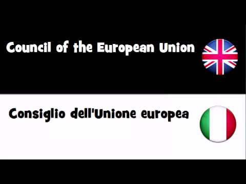 VOCABULARY IN 20 LANGUAGES = Council of the European Union