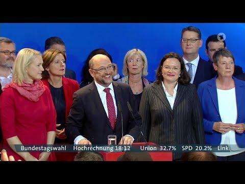 Bundestagswahl 2017 erste Ergebnisse und Reaktionen live im ARD
